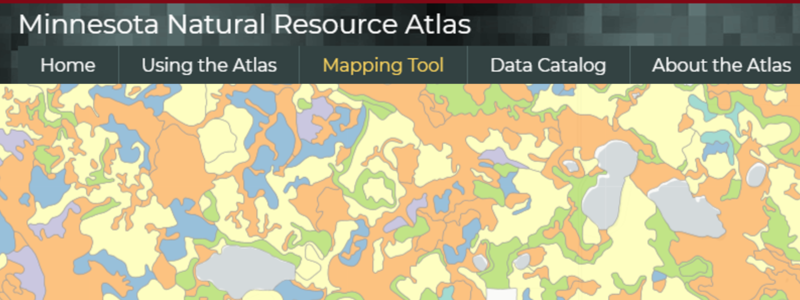 Screenshot of MN Natural Resource Atlas