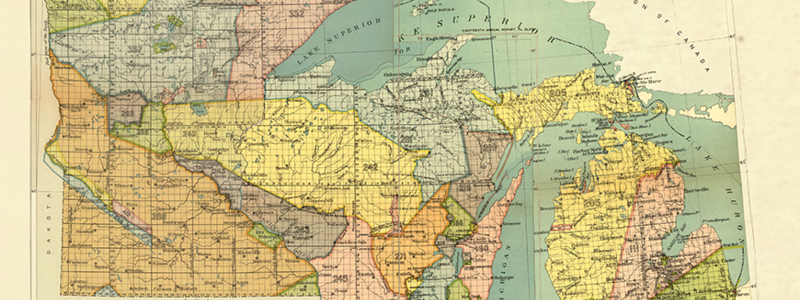 MN and WI historical treaty map
