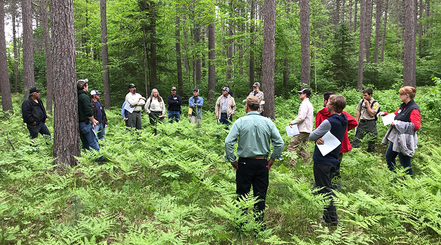 Workshop participants at Cloquet Forestry Center