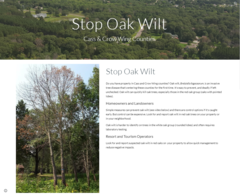 U of MN Extension Stop Oak Wilt webpage