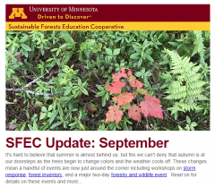 September 2017 SFEC email update thumbnail