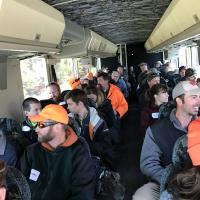 Forestry wildlife participants on bus October 11, 2017