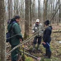 Mike Whited and Jim Gries at the black ash silviculture site