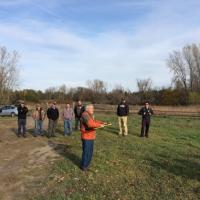 Bill Anderson launches the eBee for a demonstration flight at UAS15